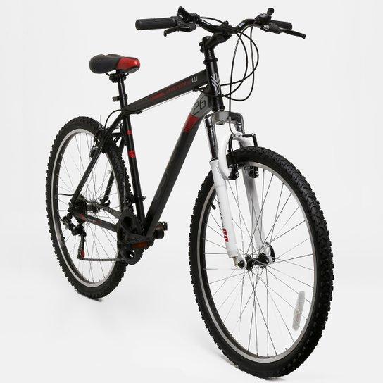 Bicicleta GONEW Endorphine 4.1 Thumb Shifter Shimano - Aro 26 - 21 Marchas - Preto