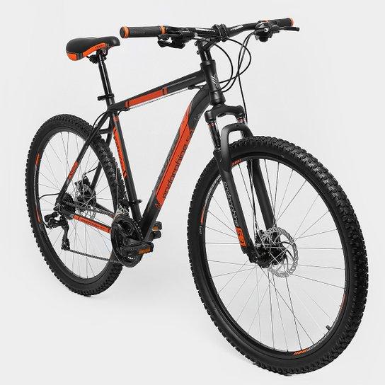 Bicicleta GONEW Endorphine 5.3 -Shimano Alumínio Aro 29 - 21 Marchas- Freio A Disco - 2016 - Preto+Laranja