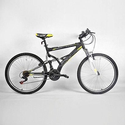 Bicicleta Gonew ENDORPHINE 5.7 Thumb Shifter - Shimano Alumínio Aro 26 - Full Suspension 2015 - Unissex