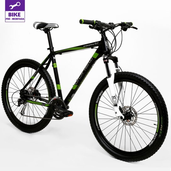 Bicicleta GONEW Endorphine 8.2 - Aro 27,5 - 27 Marchas - Verde+Preto