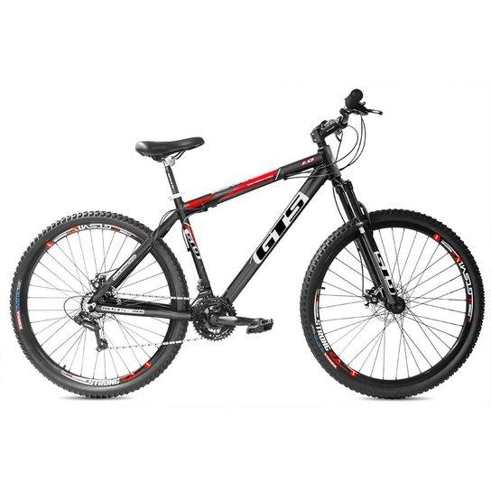 Bicicleta Gts Advanced 1.0 Aro 29 Freio Disco Câmbio Traseiro Shimano 24 Marchas - Preto