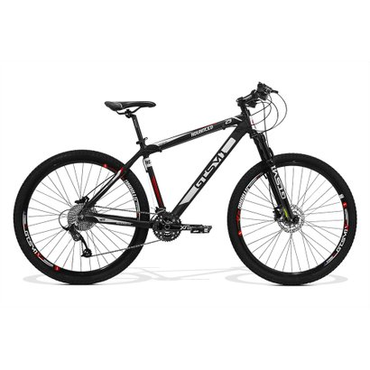 Bicicleta Gts Advanced New Aro 29 Freio A Disco Hidráulico Câmbio RX GTSM1 30 Marchas E Amortecedor - Unissex - Preto