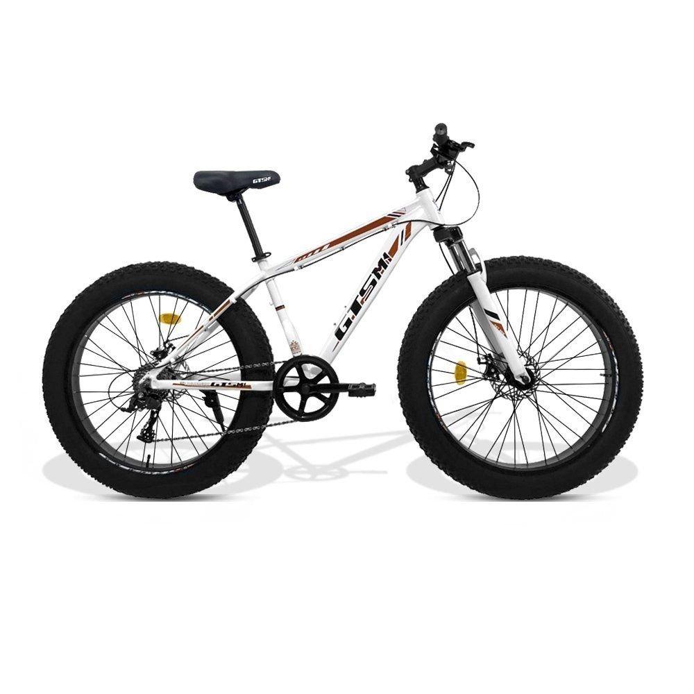 Bicicleta GTS Fat Aro 26 com Freio a Disco 9 Marchas Câmbio MicroNew ... 5c111bf2fe5