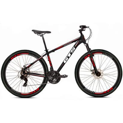 Bicicleta Gts Feel Aro 26 Freio À Disco 21 Marchas - Unissex - Preto