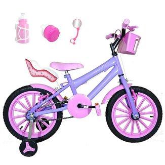 Bicicleta Infantil Aro 16 Kit C/ Cadeirinha Para Boneca