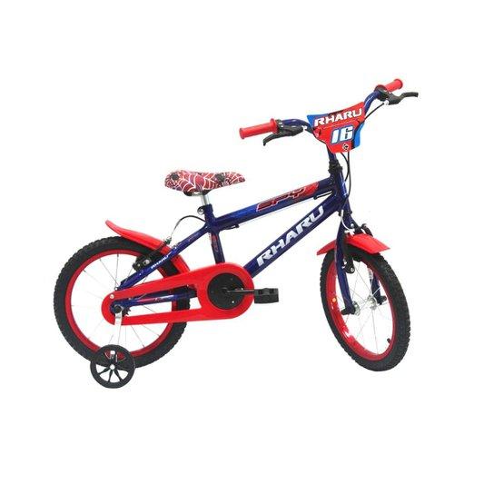 Bicicleta Infantil Aro 16 Rharu Tech Spy - Azul Royal+Vermelho