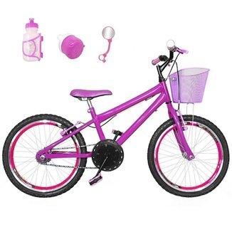 Bicicleta Infantil Aro 20 Kit E Roda Aero Com Acessórios