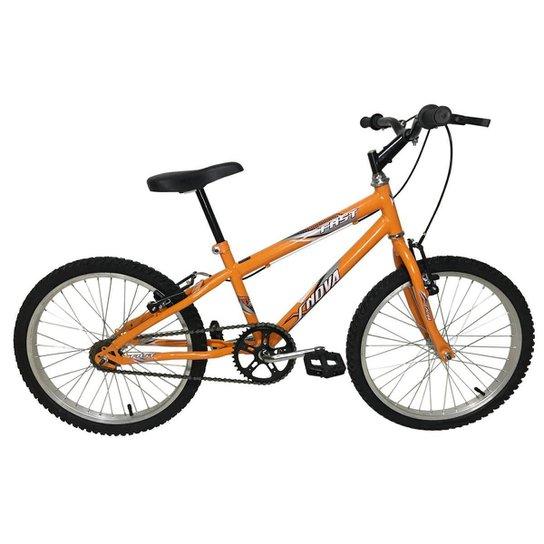 Bicicleta Infantil em Aço Carbono Aro 20 MTB - Xnova - Laranja
