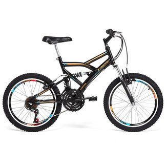 Bicicleta Infantil Tridal Full Suspensão aro 20 36 Raios Freios V-brake