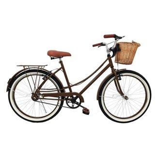 Bicicleta Milla vintage retro aro 26 c/Cesta e Pneu de Faixa