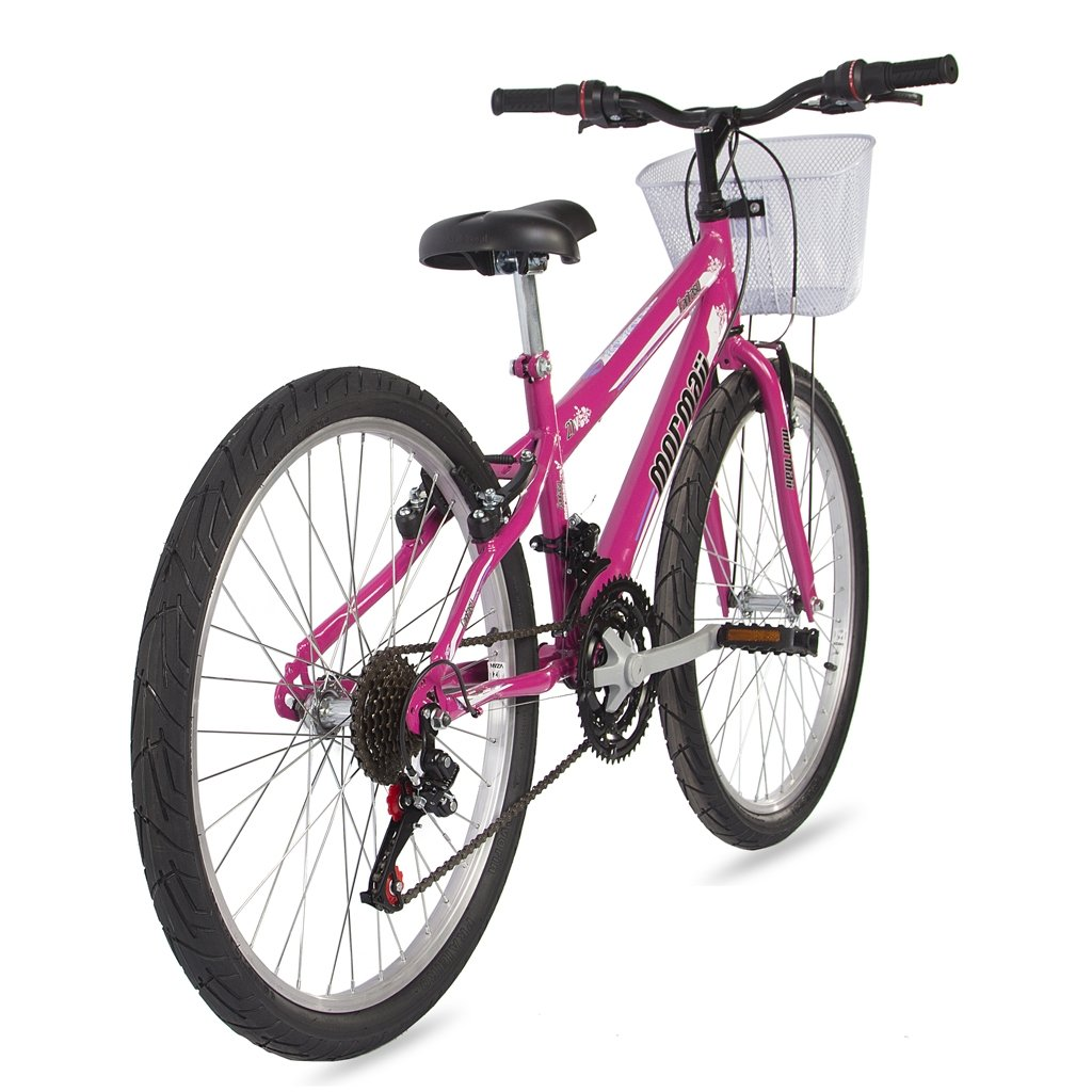 Bicicleta Mountain Bike Mormaii Aro 24 Fantasy com Cesta - Rosa ... 45a46ae572