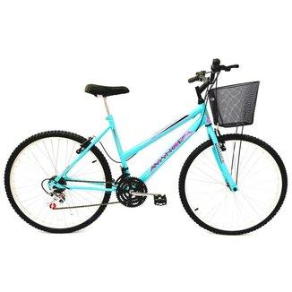 Bicicleta Mtb Feminina Aro 26 18 Vel. Freios V-brake