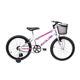 Bicicleta Mtb Kls Free Aro 20 Freio V-Brake Feminina Roda Lateral