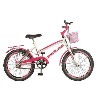 Bicicleta New Lady Gold Aro 20 Freios V.Brake Quadro em Aço Carbono KLS