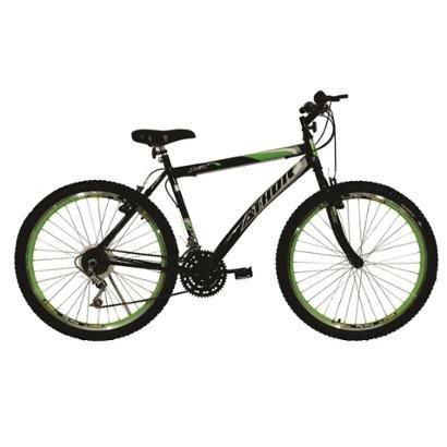 Bicicleta Passeio Athor Aro 26 Jet 18 Marchas Aero Vzan - Unissex - Preto+verde
