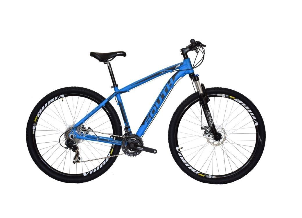 94e440f529 Bicicleta South Legend 2017 - aro 29 - 24 Marchas - Shimano Tourney -  Suspensão 100mm com trava - Azul