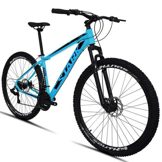 Bicicleta South Stark 2021 - Aro 29 - 21 Marchas - Freios a Disco - Suspensão Dianteira - Azul+Preto
