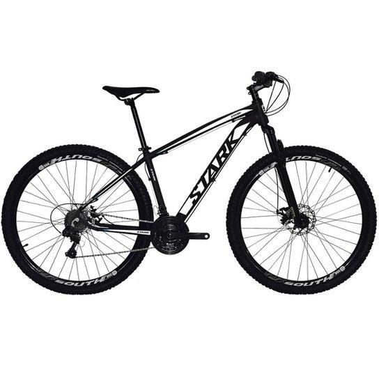 Bicicleta South Stark 2021 - Aro 29 - 21 Marchas - Freios a Disco - Suspensão Dianteira - Prata+Branco