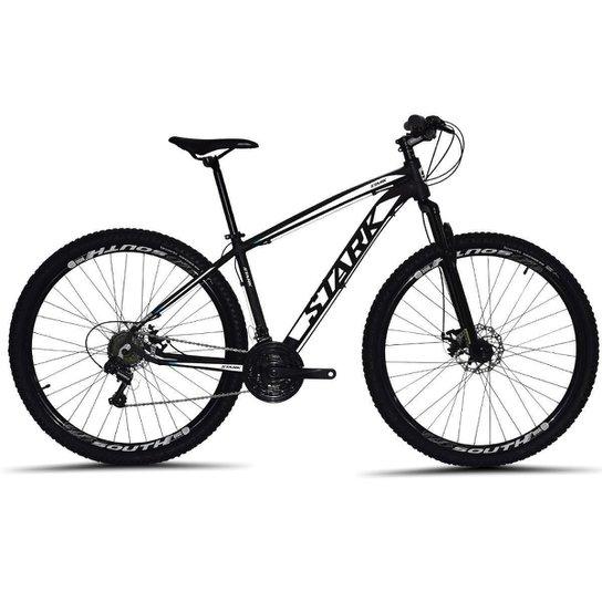 Bicicleta South Stark 2021 Aro 29 Alumínio Freio a disco Câmbio Importado 24 marchas - Preto+Branco