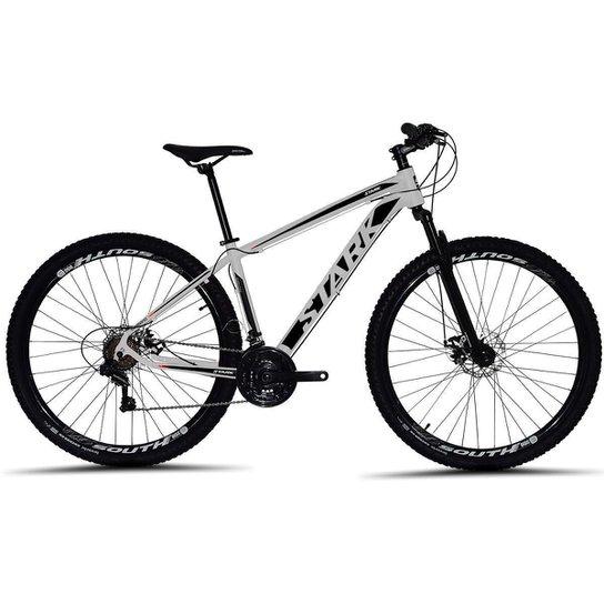 Bicicleta South Stark 2021 Aro 29 Alumínio Freio a disco Câmbio Importado 24 marchas - Branco+Preto