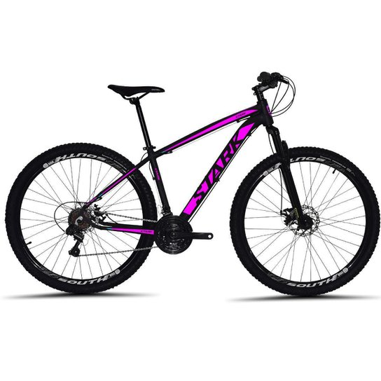 Bicicleta South Stark 2021 Aro 29 Alumínio Freio a disco Câmbio Importado 24 marchas - Preto+Rosa