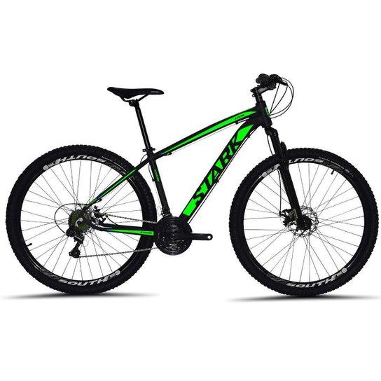 Bicicleta South Stark 2021 Aro 29 Alumínio Freio a disco Câmbio Importado 24 marchas - Preto+verde