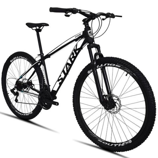 Bicicleta South Stark 2021 Aro 29 Alumínio Freio a disco Câmbio Importado 24 marchas - Prata+Branco