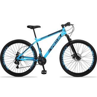 Bicicleta Spaceline Moon Aço Câmbio Shimano 21 Marchas Freio a Disco e Suspensão Aro 29