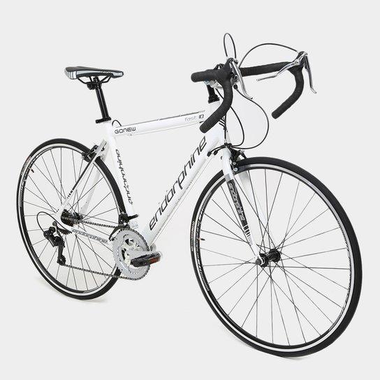 Bicicleta Speed Endorphine Gonew Fast 10 Shimano Alumínio - Aro 700 - Preto+Branco