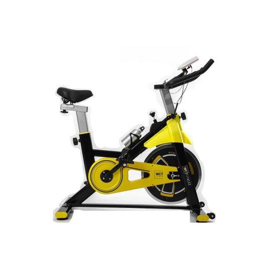 Bicicleta Spinning Com Roda De 8Kg Wct Fitness - Amarelo+Preto