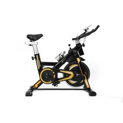 Bicicleta Spinning Com Roda De Inercia De 13Kg - Preto E Amarelo