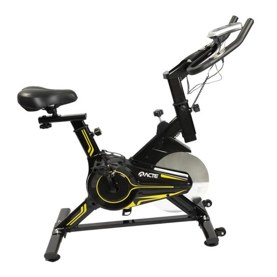 Bicicleta Spinning E16 - Acte Sports - Preto+Amarelo