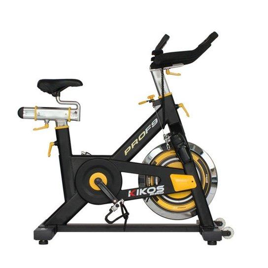 Bicicleta Spinning Kikos F9 - Preto+Amarelo