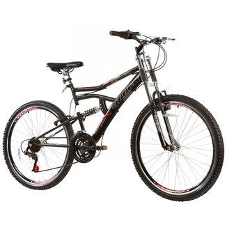 Bicicleta Track Bikes Boxxer c/ Dupla Suspensão - Aro 26