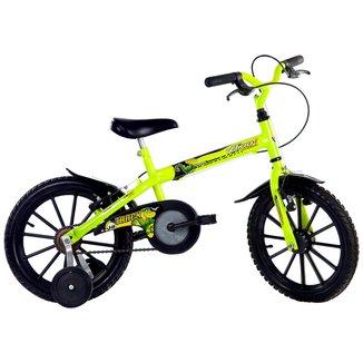 Bicicleta Track Bikes Dino Neon Infantil - Aro 16