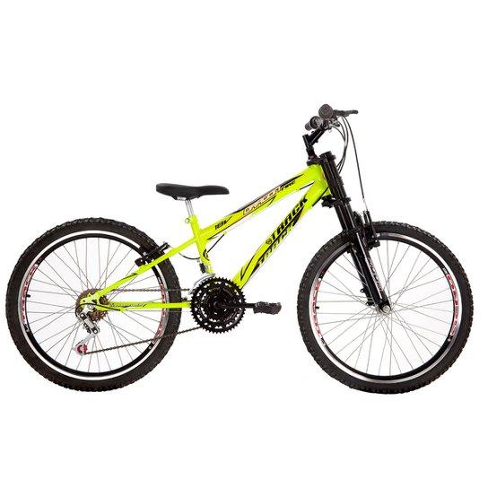 Bicicleta Track Bikes Dragon Fire Juvenil - Aro 24 - Verde Limão
