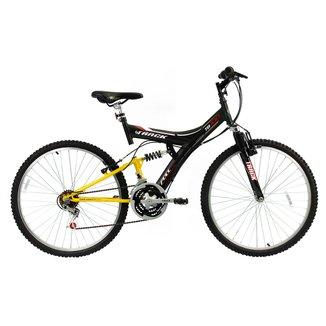 Bicicleta Track Bikes TB 100 Dupla Suspensão 18 V - Aro 26