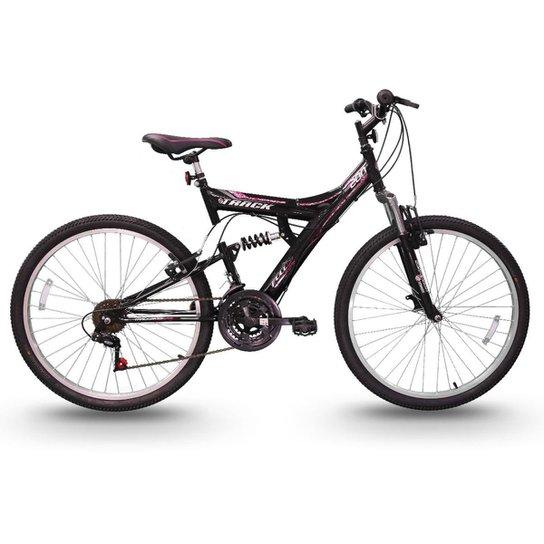 Bicicleta Track Bikes TB 200 Mountain Bike Aro 26 - Preto+Rosa