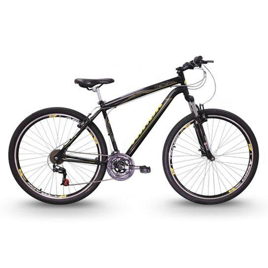 Bicicleta Track Bikes TB Black 29 Mountain Bike Aro 29 - Preto+Amarelo