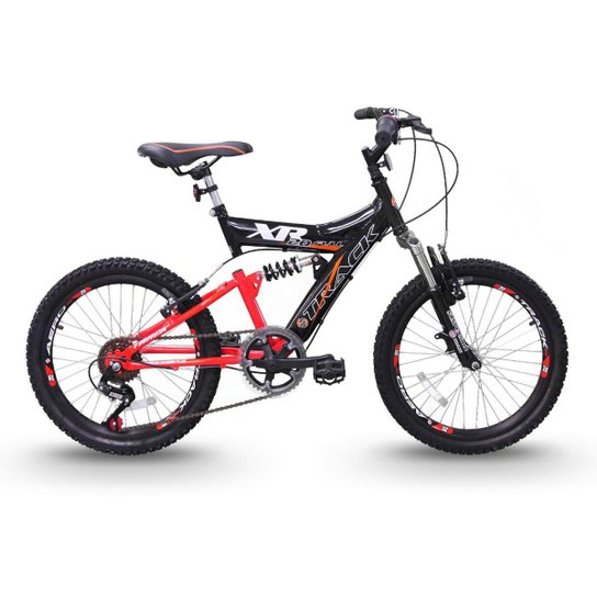 Bicicleta Track Bikes XR 20 Juvenil Aro 20 - Preto+Laranja