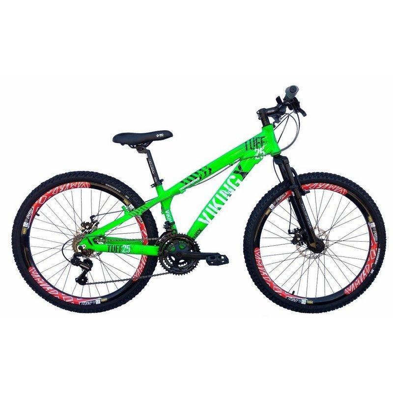 6c10088ba2 Bicicleta Vikingx Tuff 25 Aro 26 Freio A Disco Bike Neon