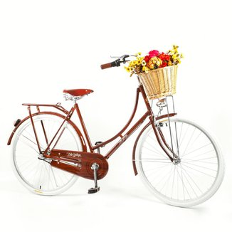 Bicicleta Vintage Ísis Kit Marcha Nexus Shimano 3 velocidades Plus Light Wood Feminina Aro 28
