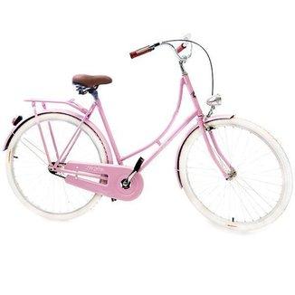 Bicicleta Vintage Retrô - Vênus Rosa | Aro 28