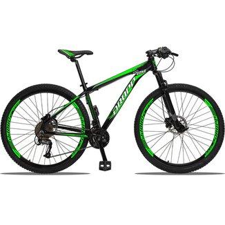 Bike Aro 29 Dropp Aluminum 27V Câmbios Shimano Freios Hidráulico Suspensão Dianteira
