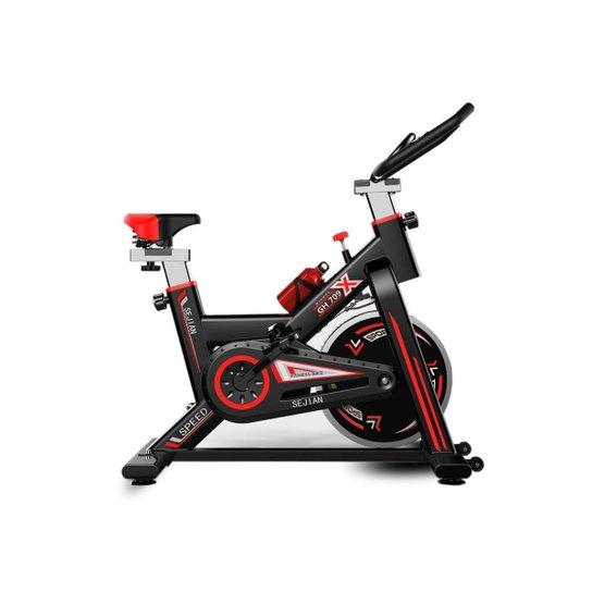 Bike Spinnnig Ergométrica Bicicleta 3 Seconds Fitness - Preto+Vermelho