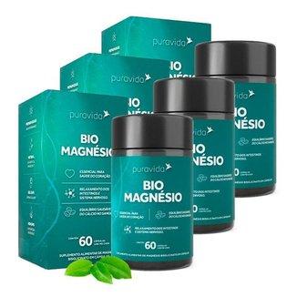 Bio Magnésio - 3 unidades de 60 Cápsulas - Puravida
