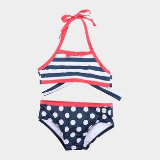 Biquíni Infantil Fakini Listrado Proteção UV 50+