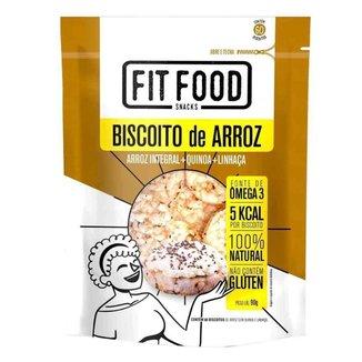 Biscoito de Arroz com Quinoa e Linhaça 90gr - Fit Food