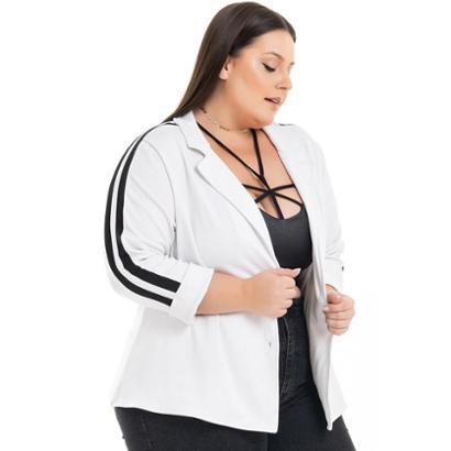 Blazer Plus Size Ponta Roma Sport com Faixas Miss Masy Plus Feminino - Feminino
