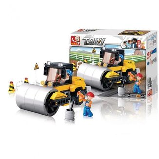 Blocos de Montar Construção Rolo Compressor Multikids BR828